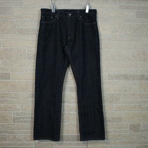 LEvis 514 Super Dark Wash Indigo Blue Denim Jeans
